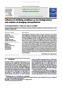 Influence of nitrifying conditions on the ...