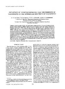 INFLUENCE OF NONSTOICHIOMETRY AND THE PRESENCE OF ...