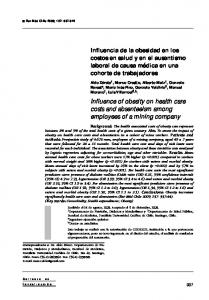 Influence of obesity on health care costs and absenteeism among ...