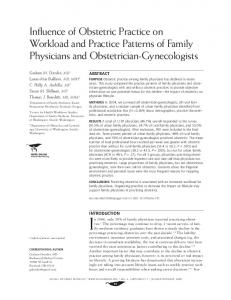 Influence of Obstetric Practice on Workload and Practice ... - CiteSeerX