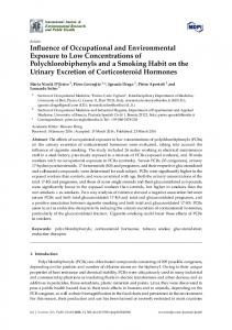 Influence of Occupational and Environmental Exposure to Low ... - MDPI