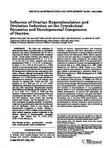 Influence of ovarian hyperstimulation and ovulation induction on the ...