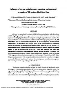 Influence of oxygen partial pressure on optical and ...