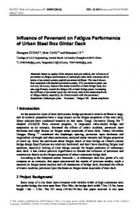 Influence of Pavement on Fatigue Performance of Urban Steel Box ...
