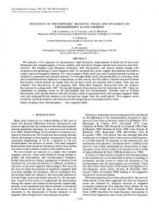 INFLUENCE OF PHOTOSPHERIC MAGNETIC FIELDS ... - IOPscience