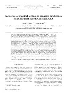 Influence of physical setting on seagrass landscapes ... - Inter Research