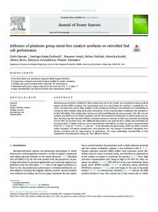 Influence of platinum group metal-free catalyst synthesis on microbial