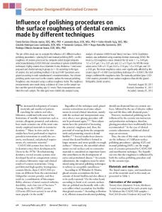 Influence of polishing procedures on the surface roughness of dental