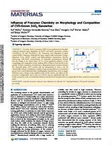 Influence of Precursor Chemistry on Morphology and
