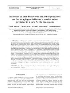 Influence of prey behaviour and other predators on the foraging