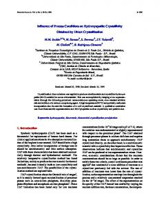 Influence of Process Conditions on Hydroxyapatite ... - SciELO