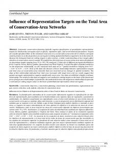 Influence of Representation Targets on the Total ... - Semantic Scholar