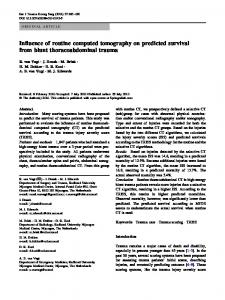 Influence of routine computed tomography on ... - Springer Link