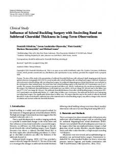 Influence of Scleral Buckling Surgery with Encircling Band on