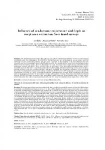 Influence of sea-bottom temperature and depth on
