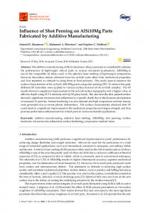 Influence of Shot Peening on AlSi10Mg Parts Fabricated by ... - MDPI