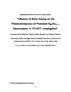 Influence of Silver Doping on the Photoluminescence