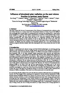 Influence of simulated solar radiation on the soot ...