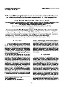 Influence of Sintering Atmosphere on Abnormal Grain Growth ...