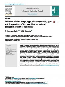 Influence of size, shape, type of nanoparticles, type and ... - Core