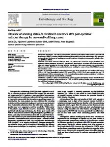 Influence of smoking status on treatment outcomes after post-operative ...