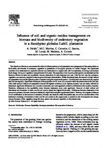 Influence of soil and organic residue management ... - UTL Repository