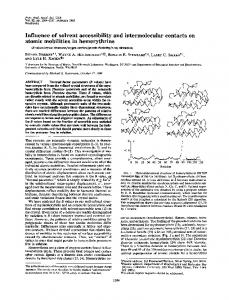 Influence of solvent accessibility and intermolecular contacts on ...
