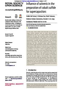 Influence of solvents in the preparation of cobalt ...