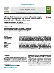 Influence of solvents on species crossover and