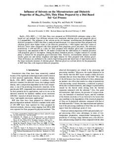 Influence of Solvents on the Microstructure and Dielectric Properties of ...