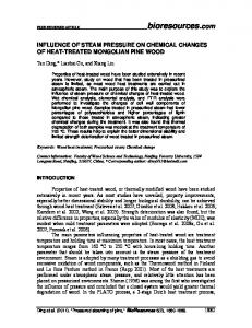 INFLUENCE OF STEAM PRESSURE ON CHEMICAL CHANGES OF