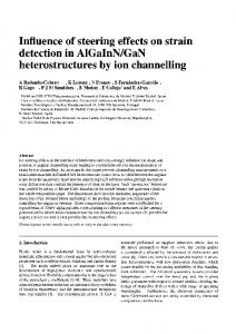 Influence of steering effects on strain detection in AlGaInN/GaN ...