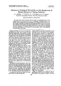 Influence of Substrate Wettability on the Attachment of - Applied and ...