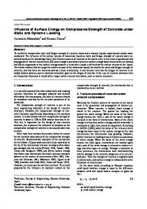 Influence of Surface Energy on Compressive Strength of ... - J-Stage