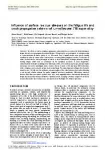 Influence of surface residual stresses on the