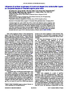 Influence of surface roughness of aluminum-doped ... - AIP Publishing