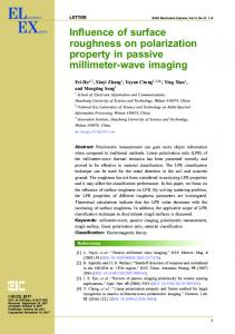 Influence of surface roughness on polarization property in ... - J-Stage