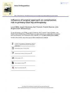 Influence of surgical approach on complication risk in ...