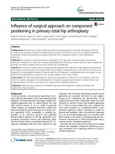 Influence of surgical approach on component ... - Uni Heidelberg
