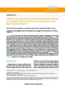 Influence of surgical manipulation and surgical modality on the