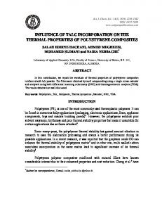 influence of talc incorporation on the thermal properties of polystyrene ...
