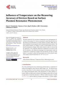 Influence of Temperature on the Measuring Accuracy of Devices