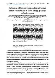 Influence of temperature on the refractive index sensitivities of fiber ...