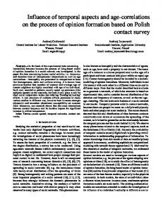 Influence of temporal aspects and age-correlations on the ... - arXiv