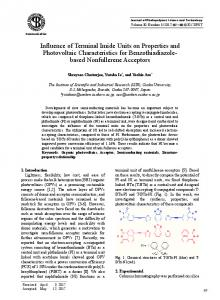 Influence of Terminal Imide Units on Properties and Photovoltaic