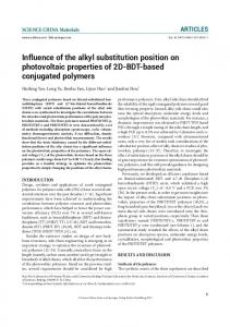 Influence of the alkyl substitution position on