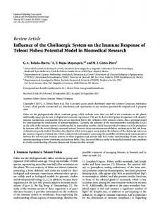 Influence of the Cholinergic System on the Immune Response of ...