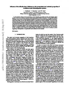 Influence of the effective layer thickness on the groundstate and ...