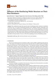 Influence of the Hardfacing Welds Structure on Their Wear ... - MDPI