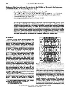 Influence of the Intermolecular Interactions on the Mobility of Heptane ...